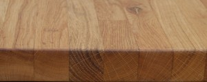 Tung oil on an oak chopping block